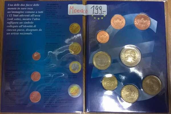Monaco Kursmünzen Set Rainer lose gemischt