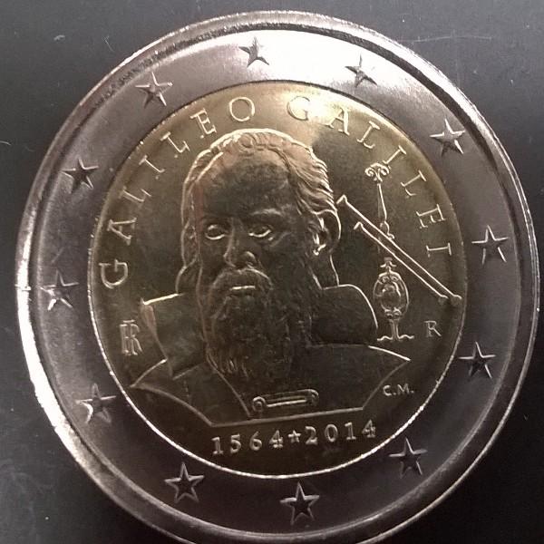 2 Euro Italien 2014 Galileo Galilei