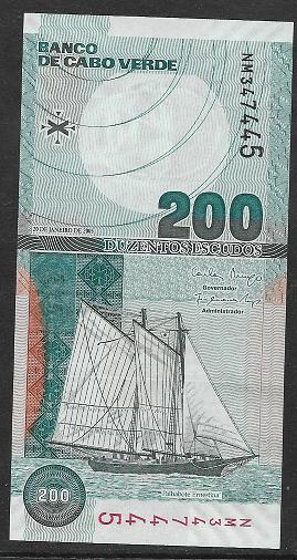 Cape Verde Kap Verden - 200 Escudos 2005 UNC - Pick 68