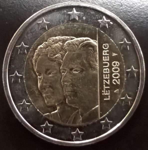 2 Euro Luxemburg Charlotte 2009