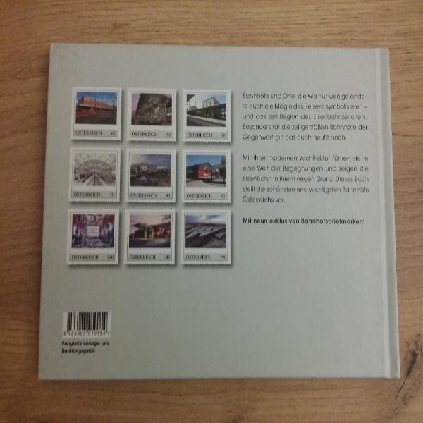 Briefmarkenbuch Bahnhöfe in Österreich mit 9 exklusiven Marken