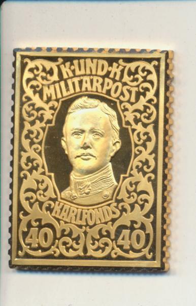 K&K Jubiläums Collection Karlsfonds Karl 40 Heller 1918 K&K Silber Gold