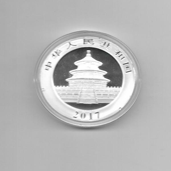 China 10 Yuan 2017 Panda 30g Silber