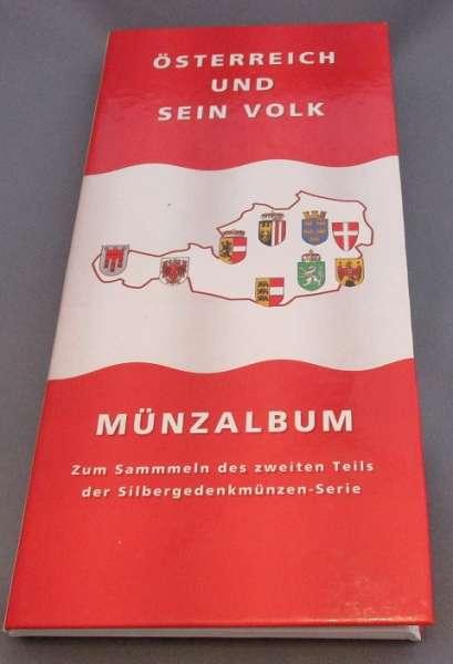 Münzalbum für 500 Schilling Silbermünzen Österreich und sein Volk 2.Teil