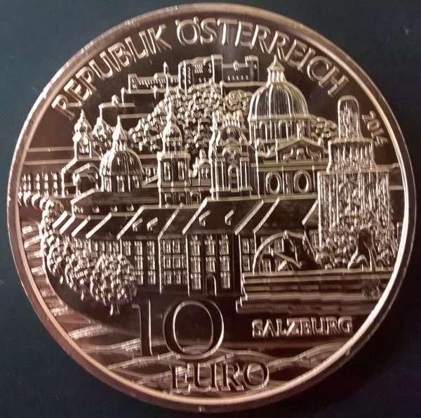 10 Euro 2014 Salzburg Kupfer ANK Nr. 25