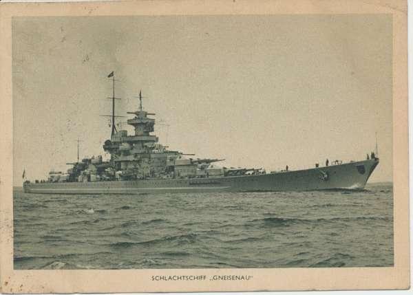 Schlachtschiff Gneisenau Postkarte
