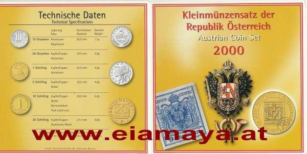 2000 Jahressatz Kursmünzensatz KMS Mintset