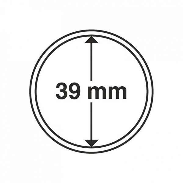 MÜNZKAPSELN CAPS 39 MM, 10 ER PACK