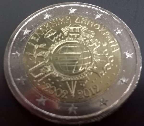 2 Euro Griechenland 2012 10 Jahre Euro