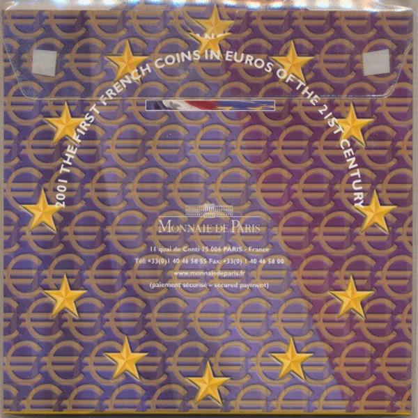 Kursmünzenset KMS Coinset Frankreich 2001 Blister