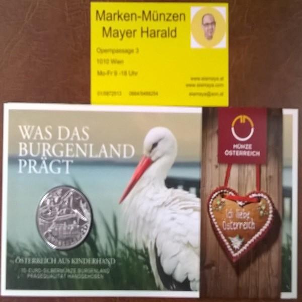 10 Euro Silber 2015 Burgenland HGH ANK. Nr.28