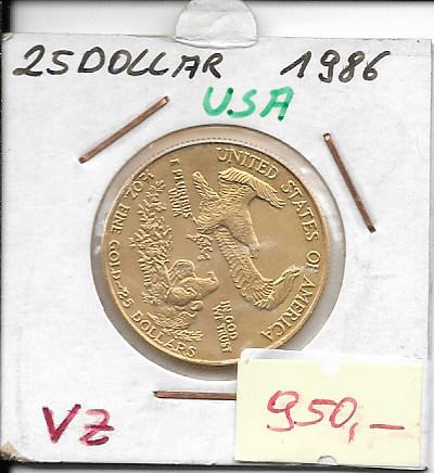 25 Dollar 1986 USA Gold