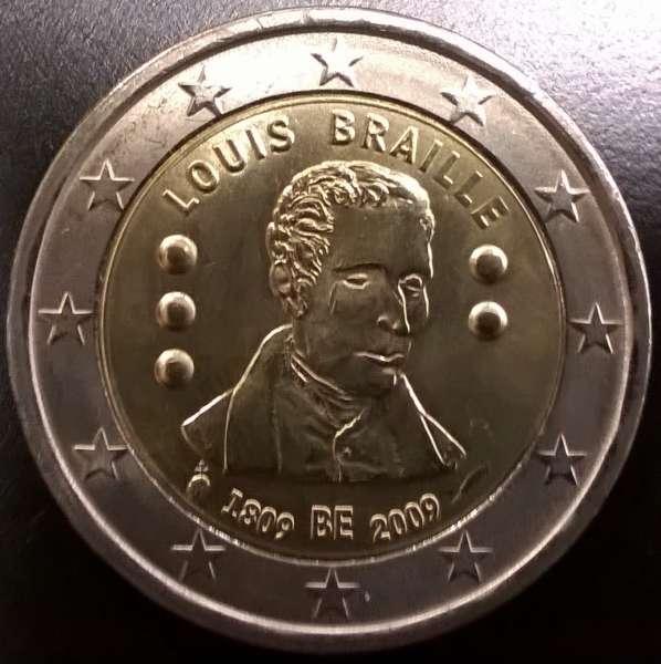 2 Euro Belgien 2009 Louis Braille