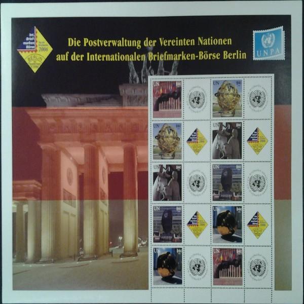 UNO New York GRUSSMARKEN Bogen Berlin 10 x 84 cent Postfrisch (6)
