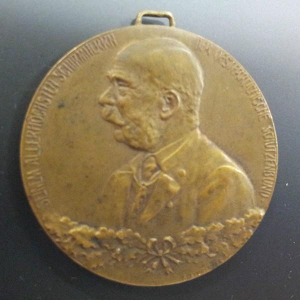 Schützenmedailie 1.Österr.JungSchützen Konkurrenz Wien 1914