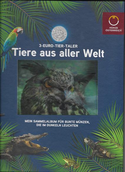 Sammelalbum Tiere aus aller Welt 3 Euro Tier Taler Sammelalbum