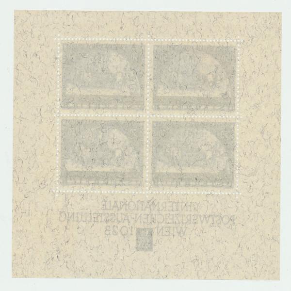 Österreich 1933 WIPA BLOCK Maße 127mm x 104mm postfrisch TOP