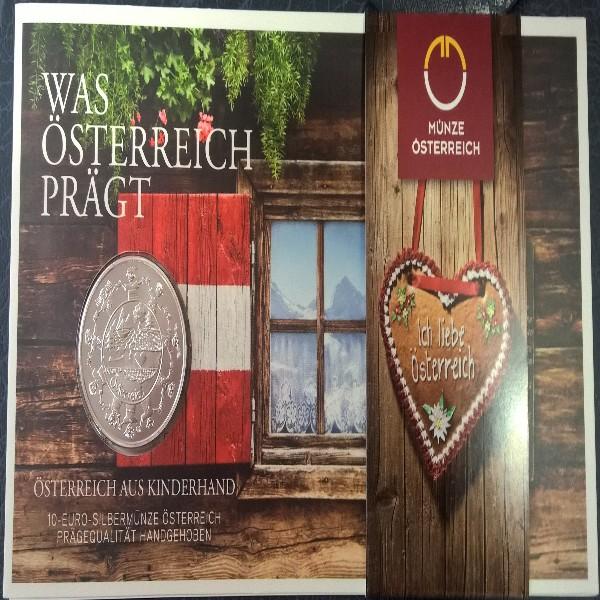 10 Euro 2016 Österreich Silber HgH Ank. Nr.30