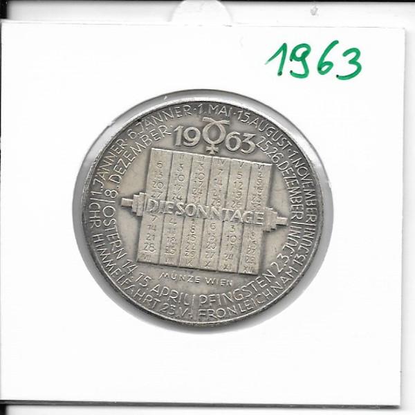 Kalendermedaille Jahresregent 1963 Bronze versilbert