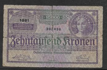 10000 Kronen 2.1.1924 Pick 85 Ank 209 Nr 1081-392436