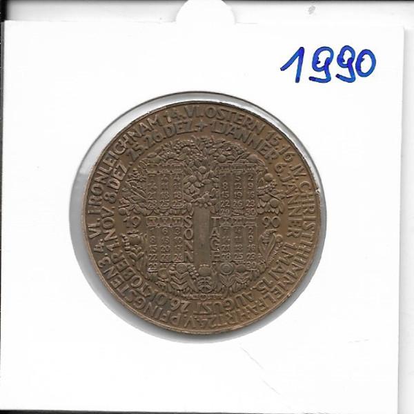 Kalendermedaille Jahresregent 1990 Bronze