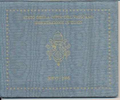Kursmünzensatz Vatikan 2006 KMS Coinset nur leerer Blister