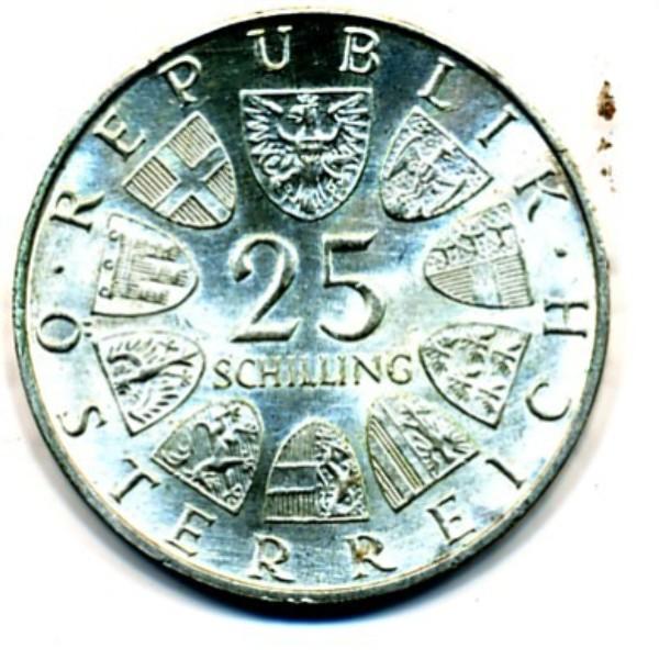 Wir kaufen an 25 Schilling 1955-73