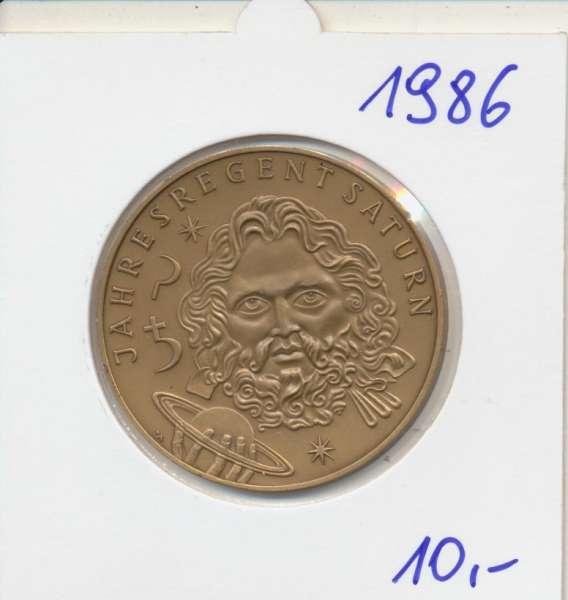 1986 Kalendermedaille Jahresregent Bronze