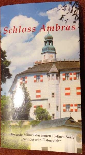 10 Euro Silber 2002 Schloss Ambras Hgh Ank. Nr.01