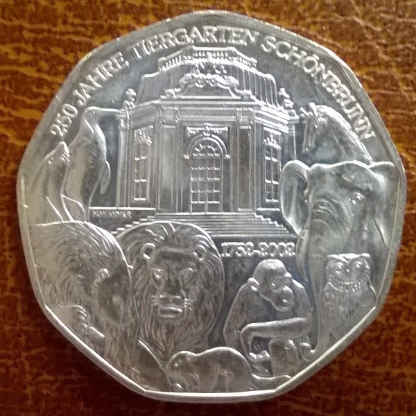 5 Euro Silber 2002 250 Jahre Tiergarten Schönbrunn lose ANK Nr.01
