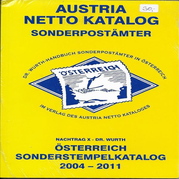 Sonderpostämter in Österreich Nachtrag 10 Dr.Würth Sonderstempelkatalog 2004-11