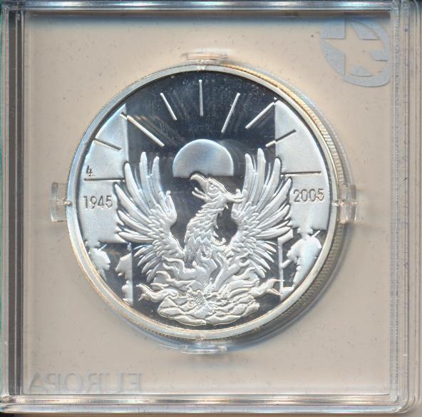10 Euro 2005 PP Silber Ag Belgien 60 Jahre Kriegsende, Frieden und Freiheit in Europa Sternserie