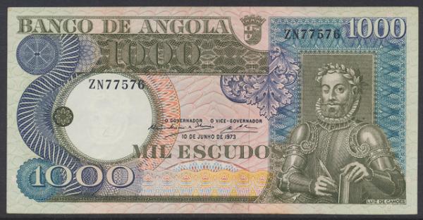 Angola - 1000 Escudos 1973 UNC - Pick 108