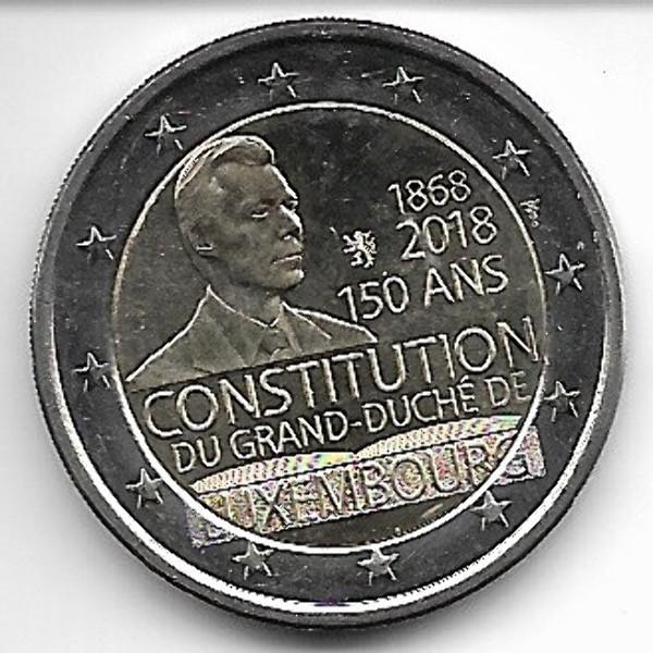 2 Euro Luxemburg 2018 150 Jahre Verfassung