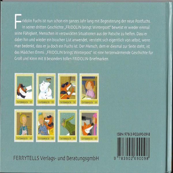 Briefmarkenbuch Fridolin bringt Winterpost inklusive 8 echten Fridolinmarken