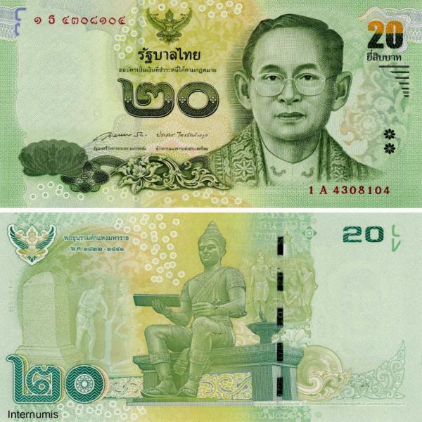 Thailand – 20 Baht (2014) , (P.124) Erh. UNC