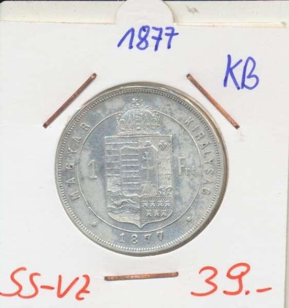 1 Gulden Forint 1877 KB Silber Franz Joseph