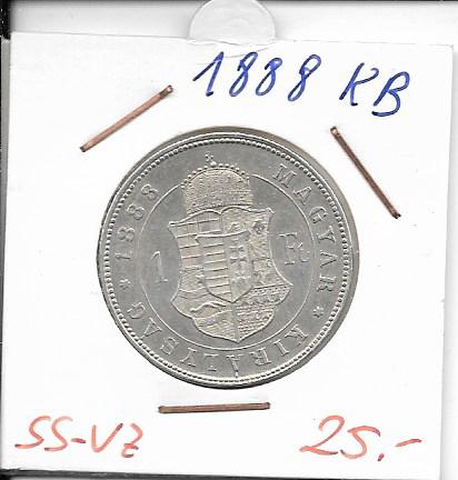 1 Gulden Forint 1888 KB Silber Franz Joseph