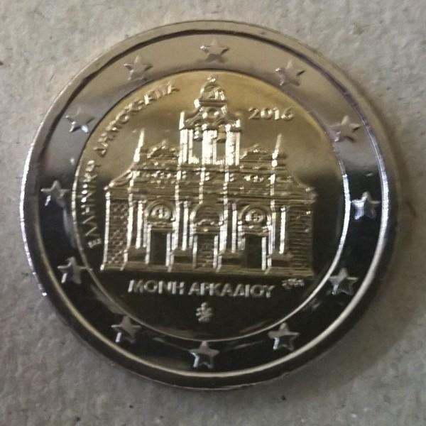 2 Euro Griechenland 2016 Arkadi Kloster