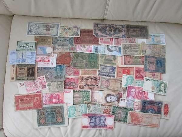 GELDSCHEINE Banknoten WELT 50 Stück gebraucht Lot 28032021/1