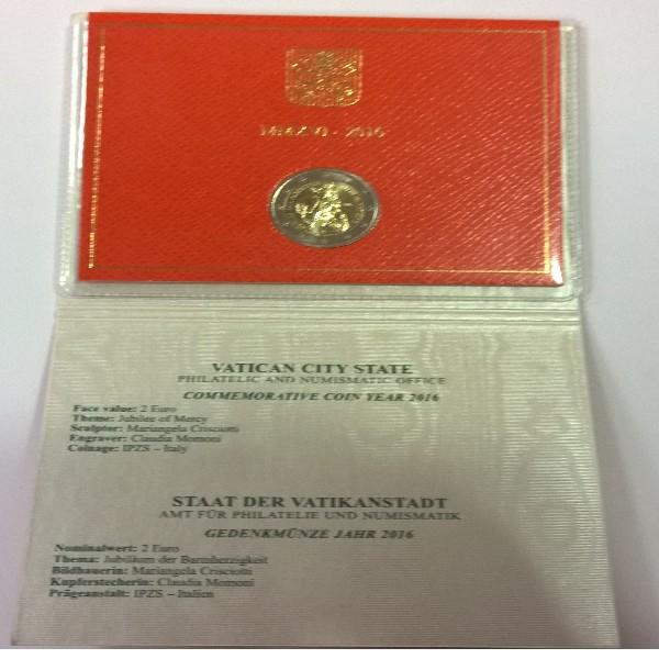 2 Euro Vatikan 2016 Giubileo Della Miseriordia