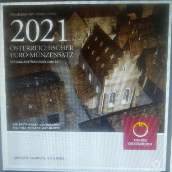 2021 offizieller Euro-Kursmünzensatz KMS Mintset Österreich