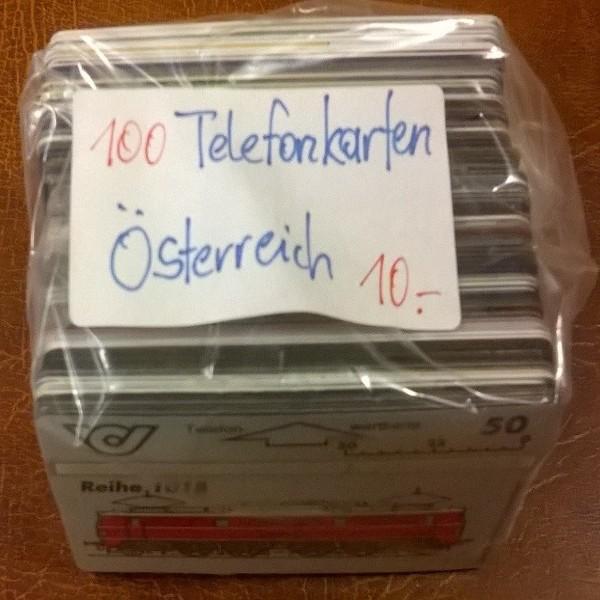 100 Stück Telefonkarten aus Österreich