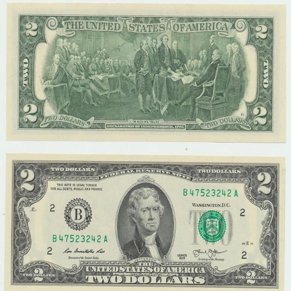 USA – 2 Dollars 2013 , (P.) Erh. UNC