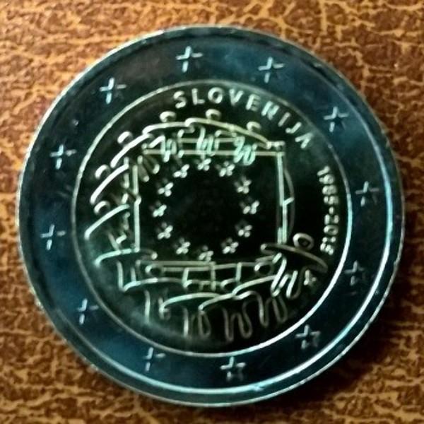 2 Euro Slowenien 2015 30 Jahre Europa Flagge