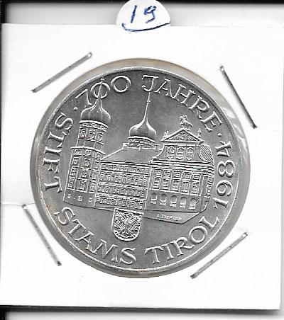 ANK Nr. 19 700 Jahre Stiftskirche in Stams 1984 500 Schilling Silber Normal