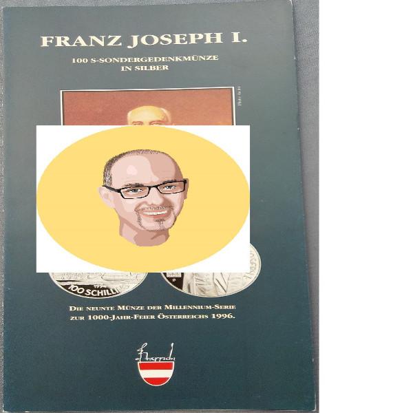 1994 100 Schilling - Franz Joseph I silber nur Flyer Folder