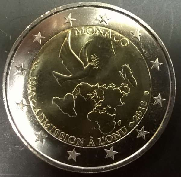 2 Euro Monaco 2013 20 Jahre UN Mitgliedschaft