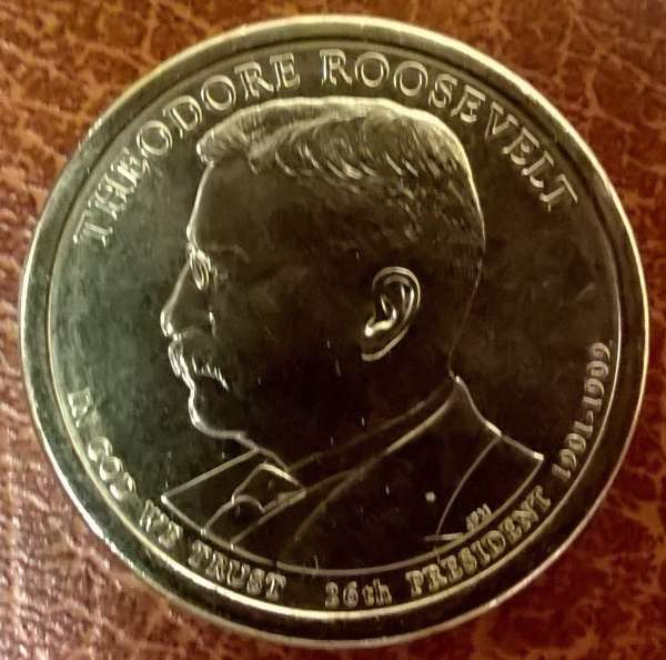 USA 1 Dollar 2013 D Theodore Roosewelt(26)