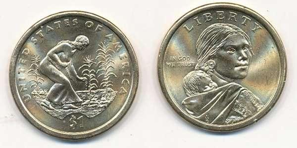 1 Dollar USA 2009 P Sacagawea - Nativ Dollar